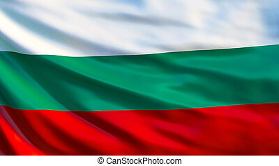 Bulgaria flag. Waving flag of Bulgaria 3d illustration