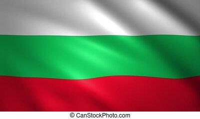 Bulgaria Flag waving in the wind