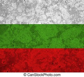 bulgaria flag with texture on background