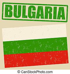 Bulgaria grunge flag and Bulgaria stamp