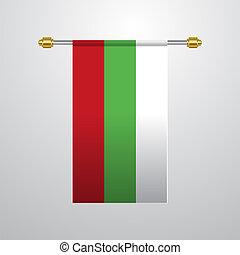 Bulgaria hanging Flag