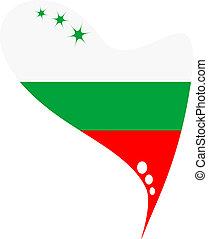 bulgaria in heart. bulgaria flag