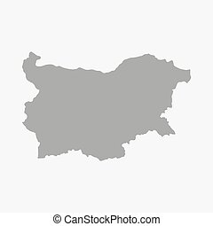 Bulgaria map in gray on a white background