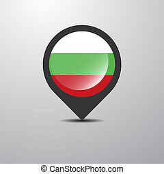 Bulgaria Map Pin