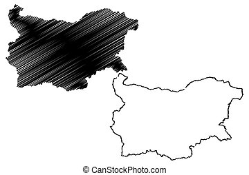 Bulgaria map vector