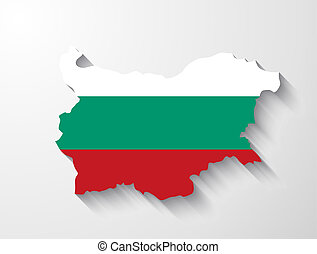 Bulgaria map with shadow effect