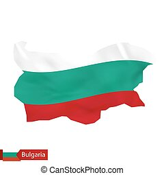 Bulgaria map with waving flag of Bulgaria.