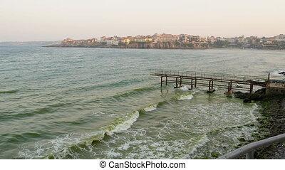 bulgaria., mer noire, côte