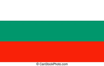 Bulgaria national flag. Vector illustration. Sofia