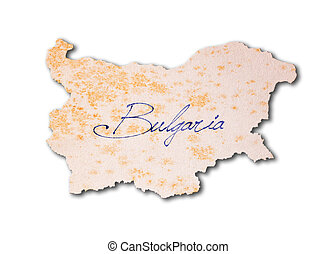 Bulgaria - Old paper with handwriting
