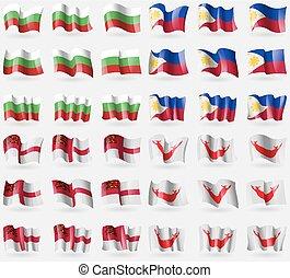 Bulgaria, Philippines, Sark, Easter Rapa Nui. Set of 36...