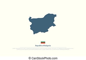 bulgaria - Republic of Bulgaria map and isolated official...