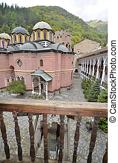 Bulgaria, Rila Monastir 68 - Rila, Bulgaria - portico and...