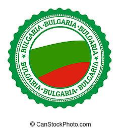 Bulgaria stamp or label