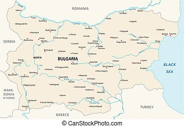 bulgaria vector map