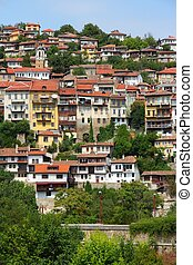 Veliko Tarnovo in Bulgaria. Famous town located on three hills.