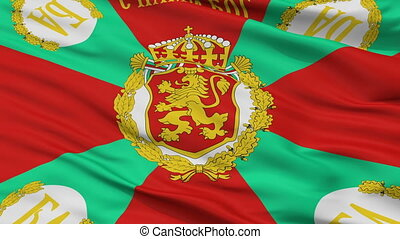 Bulgaria War Flag Closeup Seamless Loop - War Bulgaria Flag,...