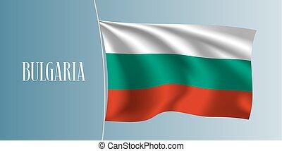 Bulgaria waving flag vector illustration