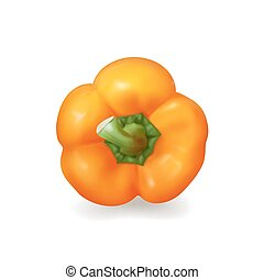 Bulgarian bell pepper isolated - Bulgarian Bell pepper...