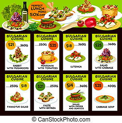 Bulgarian cuisine dishes and salads - Bulgarian cuisine...