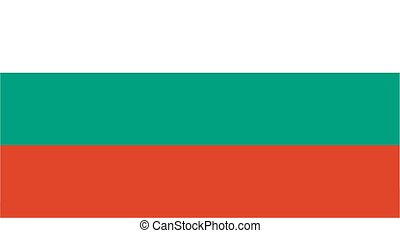 Bulgarian flag and language icon - isolated vector illustration