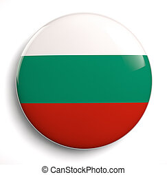 Bulgarian flag icon. Clipping path included.