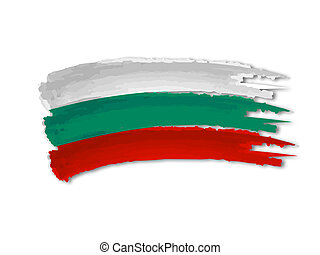 illustration of isolated hand drawn Bulgarian flag
