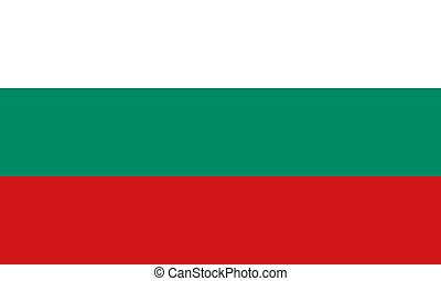 Bulgarian flag, flat layout, vector illustration