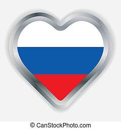 Bulgarian  Flag Heart Glossy Button