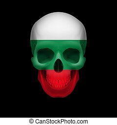 Bulgarian flag skull
