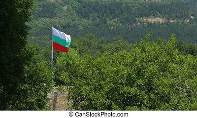 Bulgarian flag waving in the wind