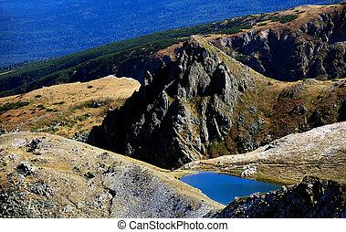 bulgarian lake in rocky mountain
