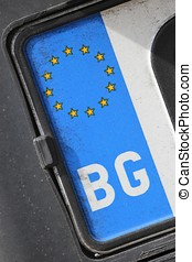 Bulgarian registration plate