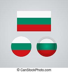 Bulgarian trio flags, vector illustration - Flag design....