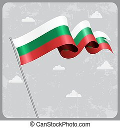 Bulgarian wavy flag. Vector illustration. - Bulgarian flag...