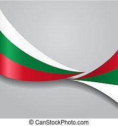 Bulgarian wavy flag. Vector illustration. - Bulgarian flag...