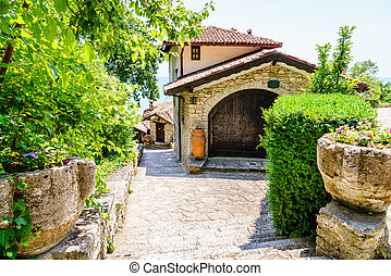 Small local vinery in a Bulgarian village