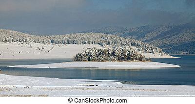 bulgarian winter landscape