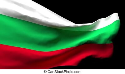 Bulgaria's national flag flutters in the wind