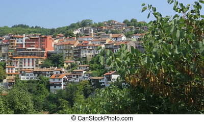 bulgarie, bâtiments, colline