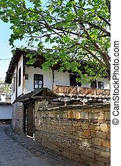 bulgarie, europe, vieux, maison, oriental