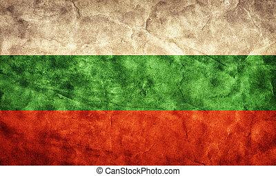 bulgarije, grunge, flag., artikel, van, mijn, ouderwetse , retro, vlaggen, verzameling