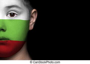 bulgarije, menselijk gezicht, vlag