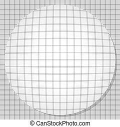 Bulging circle. Vector illustration EPS10