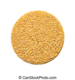 Bulgur or burghul isolated on white background. Top view