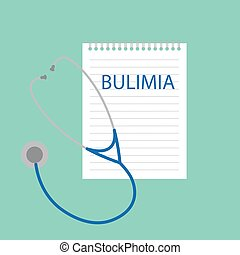 bulimia, ノート, 書かれた