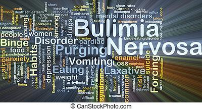 bulimia, nervosa, achtergrond, concept, gloeiend