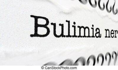 Bulimia nervosa disease