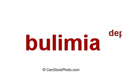Bulimia Nervosa medical symbol. Eating disorder symbol...