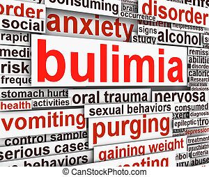 Bulimia Nervosa message conceptual design. Eating disorder...